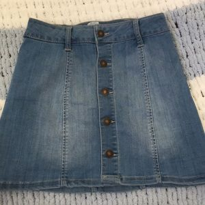 Tilly's Stretchy Soft Denim Skirt